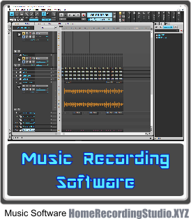 Music recording software for a home recording studio for Music studio design software
